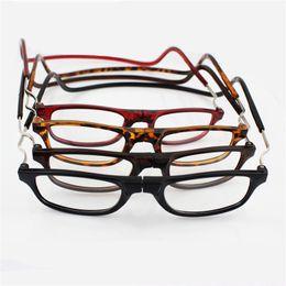 óculos graus Desconto Cabresto Dobrável Presbiopia Óculos Com Ímã Anti Queda de Óculos Homem E Mulheres Óculos Multi Cores Muitos Graus 3 9jj D1