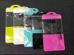 Sacs en plastique d'expédition pour le cas d'iphone en Ligne-Téléphone portable iPhone Case En Plastique Emballage Zipper Retail Package Zip lock sacs avec Hang Hole Divers Taille 11.5 * 22 cm Livraison CPAM Gratuite