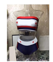 Argentina 2019 Split Bikini estampado dividido Bikini Sexy traje de baño Drop ship push up Correa sin tirantes tankinis supplier xl bikini push up tops Suministro