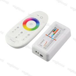 2.4g controlador led Desconto RGB led controlador DC12-24V 6A RGB levou controlador 2.4G Touch Screen RF Controle Remoto Para Led Strip Lâmpada Downlight DHL