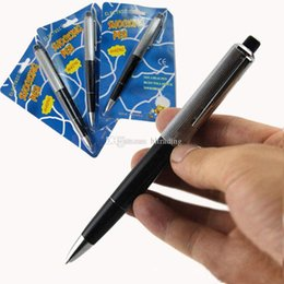 Truque de brincadeiras on-line-April Fools Day New exóticas canetas esferográfica Pen Shocking Choque Elétrico Toy Presente Joke Prank Trick Divertido brinquedos C5740