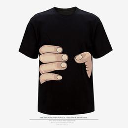 Canada Nouvelle Arrivée Top Qualité Grande Main T-shirt! Homme Femme Vêtements Impression Chaude 3d T Shirt Hommes T-shirt 100% Coton S-xxxl 11 Couleur DH Offre
