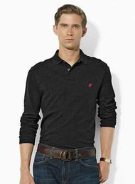 Tommy polo en Ligne-hombre ralph polo petit poney homme manches longues Casual Shirt camisa brodé homme classique mode polo masculin tommy