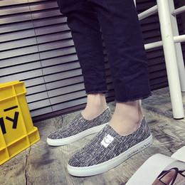 Yaz nefes öğrenci erkek ayakkabıları tembel bir kişi gelgit ayakkabı Kore tarzı tuval rahat keten ayakkabı cheap style lazy shoes nereden tembel ayakkabıları tedarikçiler