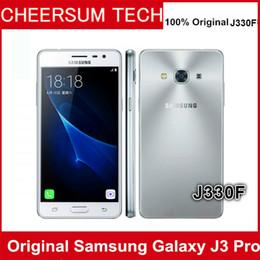 Toptan Orijinal Unlocked Samsung Galaxy J3 Pro J330F çift sim 4G LTE Cep telefonu Dört Çekirdekli Telefon Çift SIM 5.0
