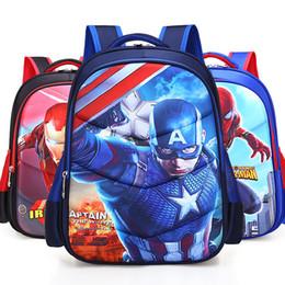 Tele di nursery online-2018 Capitan America Iron Man Spiderman Girl Baby Bambini Nursery School Bag Bagpack Sacchetti di Scuola Zaini Zaini Studenti Y190530