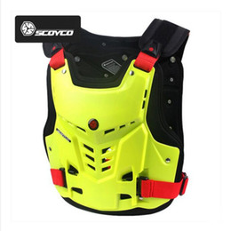 off armadura de estrada Desconto SCOYCO off-road motociclista protetor de armadura no peito equitação anti-queda Motocross Moto engrenagem protetora armadura colete PP shell
