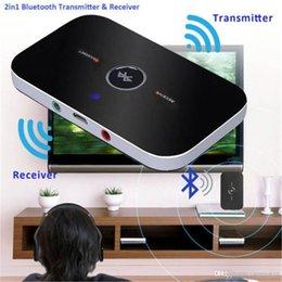 2019 atualização de caixa de tv android 2 em 1 Receptor Transmissor Sem Fio Bluetooth Receptor de Áudio Portátil Player de Áudio Aux 3.5mm Estéreo de Casa Adaptador De Áudio De TV