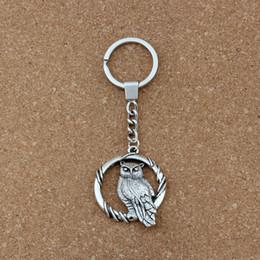 2019 pingente coruja chaveiro 10 unidades / lotes Chaveiro Coruja liga Encantos Pingentes Anel ChaveTravel Proteção DIY Acessórios 37.8x47mm Pingente A-452f pingente coruja chaveiro barato