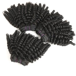 short curly human hair weave Coupons - Afro hair Mongolian afro kinky curly hair, 3 bundles 100% Unprocessed 9A Virgin Human Hair Bundles Short Hairstyles Funmi Hair