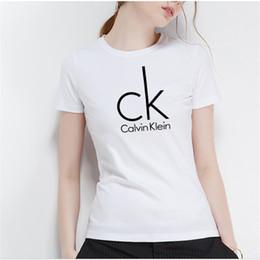 2019 hba vlies Sommer 2019 neue europäische und amerikanische Mode einfach lässig kurzarm T-Shirt 100% Baumwolle fit dünnes Hemd Damen T-Shirt