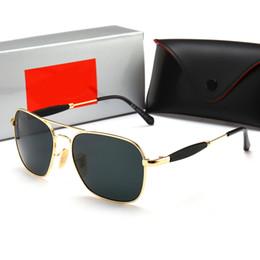 2019 lunettes de soleil militaires 2019 lunettes de soleil aviateur Ray Vintage Pilot Band UV400 Protection Bans Hommes Femmes Ben lunettes de soleil wayfarer avec étui 2168 lunettes de soleil