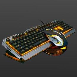 tastiera di windows xp Sconti 104 tasti Gaming Tastiera Meccanica Mouse Set USB Wired ergonomico RGB Retroilluminazione Della Tastiera Mouse Combo per il Computer Portatile Desktop PC