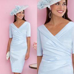 2acf927ac8 bride bridesmaids dressing gowns Promo Codes - Elegant V Neck Mother Of The  Bride Dresses Short
