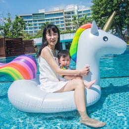 blasventil Rabatt Riesige aufblasbare Einhorn Pool Float Floatie Fahrt auf mit Rapid Valves Rideable Blow Up Sommer Strand Schwimmbad Party Lounge Raft Spielzeug