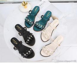 Argentina 2019 sandalia de verano mujer nuevo anuncio señoras jóvenes negro zapatos planos moda al aire libre salvaje envío libre salvaje, zapatos muy hermosos Suministro
