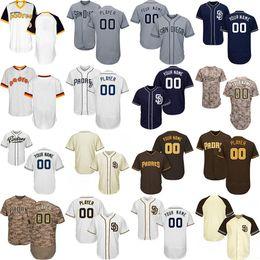 2019 jersey de béisbol de franela Custom San Diego Baseball Padres Jersey Personalizado personalizado para hombres, mujeres, jóvenes, cualquier nombre número 13 Manny Machado 4 Wil Meyers 19 Tony Gwynn