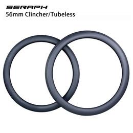 ruota ffwd 38mm Sconti cerchi in carbonio carbonio 700C toray cerchi in carbonio 56mm anteriori e posteriori tubolari aero 20h / 24h cerchi in carbonio 56mm