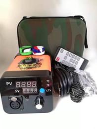 Canada Top vente électrique Dab ongles température contrôleur boîte de chauffage pour bricolage fumée avec titane ongles serpentin de chauffage pour cire vaporisateur Kit Offre