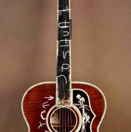 12 string solid body e-gitarre Rabatt 43-Zoll-Jumbo-Akustikgitarre aus Naturholz J200 mit Fishman-Soniton unter der Sattelaufnahme ohne Schlagbrett