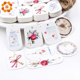 hermosos paquetes Rebajas Etiquetas de papel hermosas con cuerda Paquete de boda DIY Decoraciones para fiestas Mariage Día de San Valentín Regalos Suministros de decoración