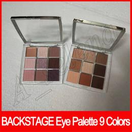 Augen Make-up Backstage Lidschatten Palette Professional Performance 9 Farben Matt Mult-Finish High Pigment Eyeshadow 2 Modelle von Fabrikanten