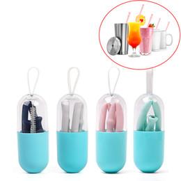 2019 tazza di toyota Cannuccia pieghevole riutilizzabile in paglia di silicone FDA con custodia per bevande da viaggio, casa, ufficio