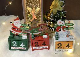 giocattoli all'ingrosso del harry potter Sconti 2019 caldo qualità di vendita di Natale di alta Calendario pupazzo di neve Elk Babbo Natale colorato regalo in legno Kids Festival
