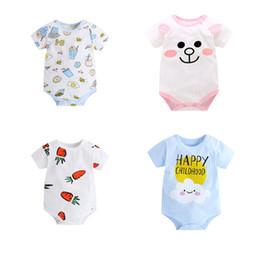 2019 chineses onesies Verão Novo Bebê Menina Bodysuits Bonito Dos Desenhos Animados Macacão Macacão de Bebê Recém-nascido Menino Infantil Bebe Macacão