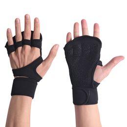 2019 fitbit flex ersatzbänder Grip Fitness Handschuhe für Gewichtheben Crossfit Schwarz Trainingshandschuhe mit Handgelenkstütze Männer Frauen Cross Training Voller Handflächenschutz M424F