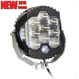 9 '' pulgadas 150 W Tirador lateral redondo Led luces Pods 4x4 Luces de trabajo de automóvil ATV SUV Barco Camión Luz Alto Bajo Haz de carretera LED Conduciendo lámpara 4x4 FOG desde fabricantes