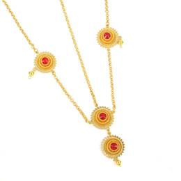 oro etioco Sconti Etiope Trendy Red Green Blue strass capelli catena oro 24k Colore capelli gioielli accessori per le donne