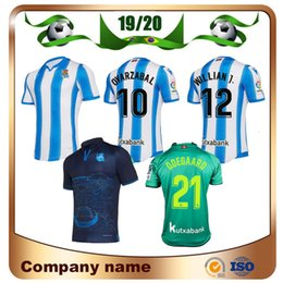 19/20 Real Sociedad Football Jersey 2019 Accueil OYARZABA Football Shir Thomé X.PRIETO CARLOS juanmi commémorative Editio Football uniforme ? partir de fabricateur