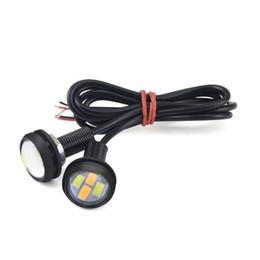 2019 adleraugen gelbe lichter 12V Hawkeye LED Blitzlichter Auto Eagle Eye Notleuchte gelb und weißes Licht rabatt adleraugen gelbe lichter