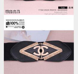 Cinturones elásticos online-Cinturón de mujer 2019, cinturón de lujo elástico. Envío gratis con cinturón de vestir.