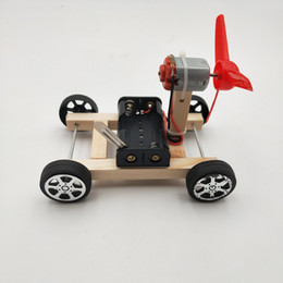 science gifts for children Promo Codes - DIY Wind Power Car Small Production Science and Technology Educational Model Assembled Toys Creative Novelty Gifts For Children C1176