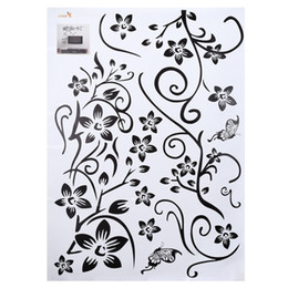 flower window decals Coupons - Fashionable Flower Pattern Removable Wall Window Decal Sticker Film Wallpaper Decor