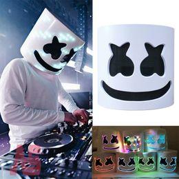 maschera di sesso mezzo viso Sconti Maschera casco Cosplay Prop Halloween Party Maschere in lattice LED Party Bar DJ LED Maschere luminose