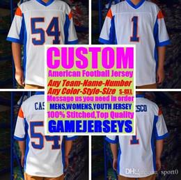 Argentina All Stitched Custom camisetas de fútbol americano Washington Miami College Auténtico barato Béisbol Baloncesto Hombres, Mujeres, Jóvenes, EE. UU. 4xl grande Suministro