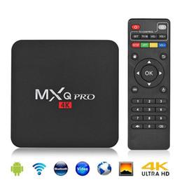 Ott quad core tv en Ligne-1 Go + 8 Go MXQ Pro 4k TV Box Android RK3229 Quad Core Android7.1 4K Boîte de TV intelligente OTT Boîte de dialogue multimédia SET TOP BOX