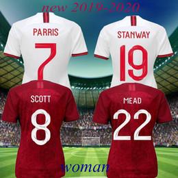 Nueva camiseta de fútbol de inglaterra online-NUEVO 2019 INGLATERRA camisetas de fútbol de las mujeres COPA DEL MUNDO 2020 INICIO ROJO KANE STERLING VARDY RASHFORD DELE Camisetas de fútbol