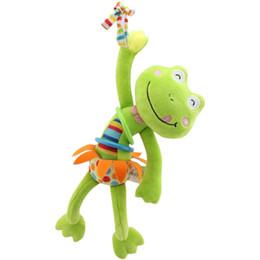 Vendita calda Baby Sonaglio Giocattoli Letto Passeggino Appeso animale musicale Mobile campana Giocattoli educativi infantili tirare scossa Rattles Baby Gift da