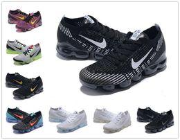2019 Knit 2.0 Fly 3.0 Кроссовки воздушные Мужские VAPOR Женские BHM MAX Orbit Металлическое Золото Тройной черный Дизайнерские туфли Кроссовки Кроссовки 36-45 от Поставщики вязаная обувь для женщин