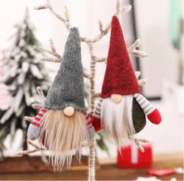 Natal sem cara Gnome Árvore do Xmas de Santa Decorações de suspensão Ornamento da boneca decoração de Natal boneca de presente de Natal pingente de árvore velho de Fornecedores de presentes bonitos por atacado