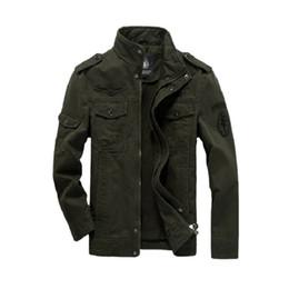 casacos de estilo do exército para homens Desconto Homens Casaco de algodão Militar 2019 Outono Soldado Estilo MA-1 Jaquetas Do Exército Masculino Marca Esculpida Mens Jaquetas Bomber Plus Size M-6XL