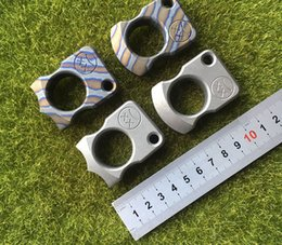2019 chaveiro de escalada Andy Frankart SFK anel de dedo único TC4 Titanium Auto Defesa punhais punhos bolso Ao Ar Livre Sobrevivência Fivela EDC Knuck knuckles Multi ferramentas