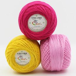 Nouvelle arrivée 1ball = 50g 100% coton dentelle pour le crochet peigné avec un fil de 2.5mm crochet 50g / pc ? partir de fabricateur