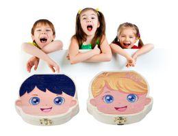Boîte de rangement pour les dents de bébé Enfants Garçon Fille Boîte à dents Collection Boîte de peinture Boîte de rangement en bois Organisateur pour Bébé Sauvegarder Lait Dents Infantile Cheveux ? partir de fabricateur