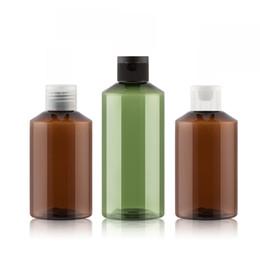 30шт 150мл 200мл многоразового использования портативный пластиковый ПЭТ флип-топ крышка бутылки янтарно-коричневый зеленый пустой лосьон косметический контейнер от