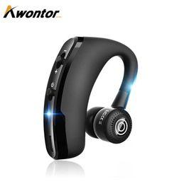 Бизнес V9 Bluetooth наушники Voyager Handfree телефонный звонок обновление один Earhook Fro драйвер Бесплатная доставка DHL от